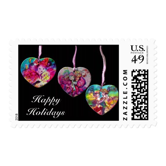 COLORFUL HEARTS PARTY ORNAMENTS POSTAGE