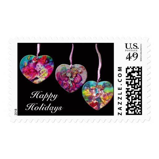COLORFUL HEARTS PARTY ORNAMENTS STAMPS