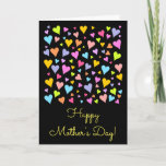 "[ Thumbnail: Colorful Hearts Pattern + ""Happy Mother's Day!"" Card ]"