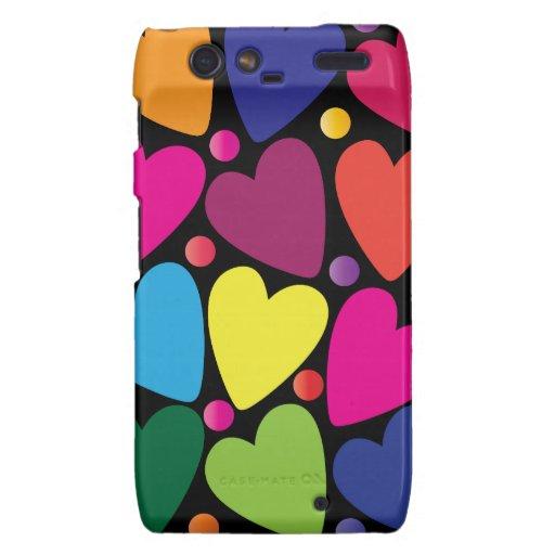 Colorful Hearts Phone Case Motorola Droid RAZR Covers
