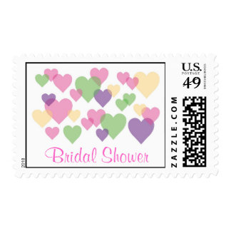 Colorful Hearts Postage Stamp