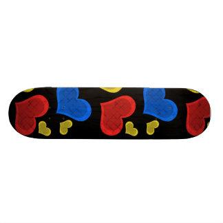 Colorful Hearts Skateboard