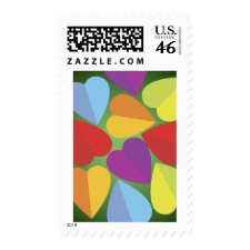 Colorful Hearts Stamps