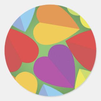 Colorful Hearts Sticker