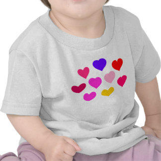 Colorful Hearts T Shirt