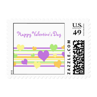 Colorful Hearts Valentine's Day Stamps