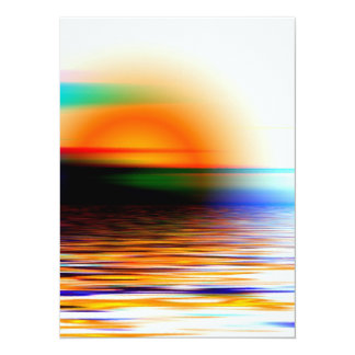 Colorful Heavenly Rainbow Sunset on the Beach 5.5x7.5 Paper Invitation Card