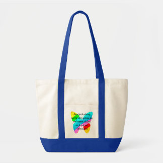 COLORFUL HEBREWS 11:1 BUTTERFLY DESIGN TOTE BAG