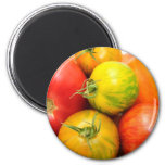 Colorful Heirloom Tomatoes 2 Inch Round Magnet