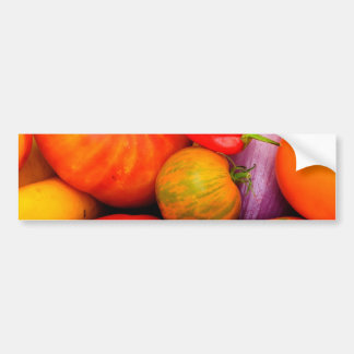 Colorful Heirloom Tomatoes Bumper Sticker