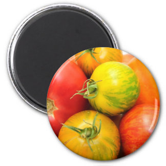 Colorful Heirloom Tomatoes Magnet