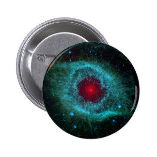 Colorful helix nebula pinback button