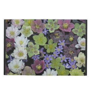 Colorful hellebore flowers print ipad air case