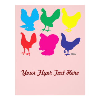 Colorful Hens Flyers