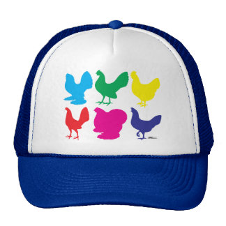 Colorful Hens Trucker Hat