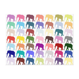 Colorful Herd Stretched Canvas Prints
