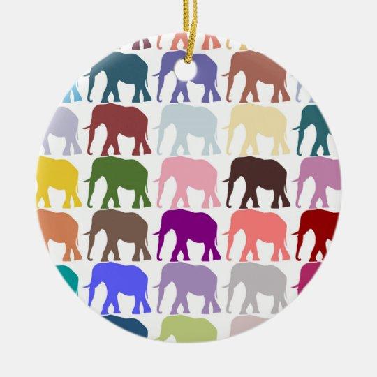 Colorful Herd Ceramic Ornament