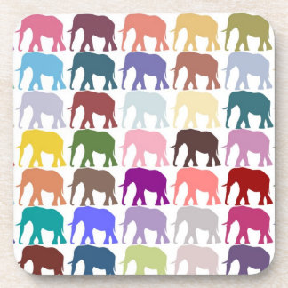 Colorful Herd Drink Coaster