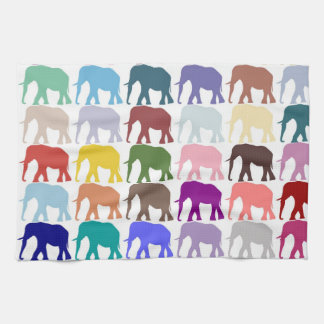 Colorful Herd Hand Towels