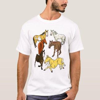 Colorful Herd of Horses T-Shirt