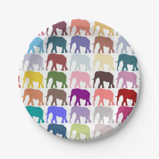 Colorful Herd Paper Plate