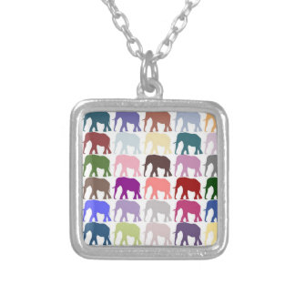 Colorful Herd Square Pendant Necklace