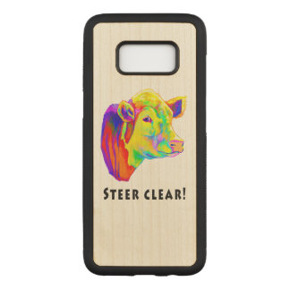 Colorful Hereford Cow: Steer Clear! Carved Samsung Galaxy S8 Case