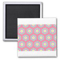 Colorful Hexagon Design Magnet