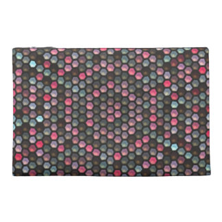 Colorful hexagon mosaic pattern travel accessories bags