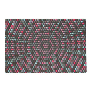 colorful hexagon mosaic pattern placemat