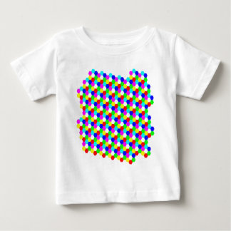 Colorful Hexagon Optical Illusion Baby T-Shirt