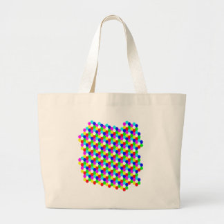 Colorful Hexagon Optical Illusion Bag