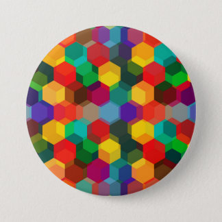 Colorful Hexagon Pattern Button