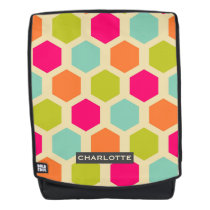 Colorful Hexagon Pattern Personalized Backpack