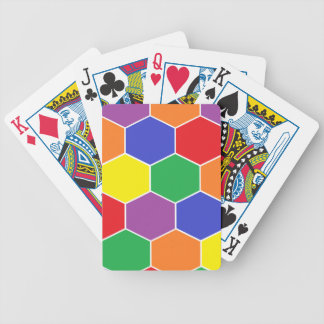"""Colorful Hexagons"" Playing Cards"