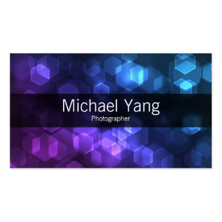 Colorful Hexes Double-Sided Standard Business Cards (Pack Of 100)