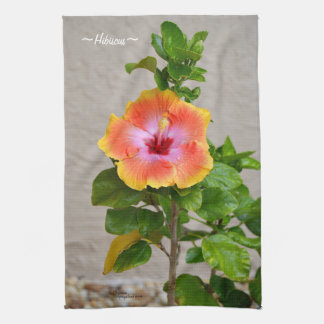 Colorful Hibiscus flower Kitchen Towel