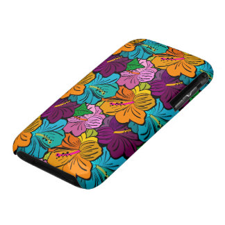 Colorful Hibiscus Flower Pattern Case-Mate iPhone 3 Case