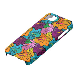 Colorful Hibiscus Flower Pattern iPhone SE/5/5s Case