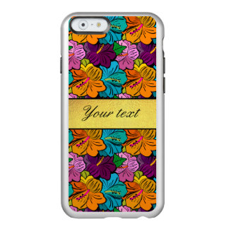 Colorful Hibiscus Flowers Pattern Incipio Feather Shine iPhone 6 Case