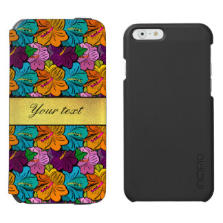 Colorful Hibiscus Flowers Pattern iPhone 6/6s Wallet Case