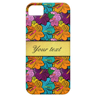 Colorful Hibiscus Flowers Pattern iPhone SE/5/5s Case
