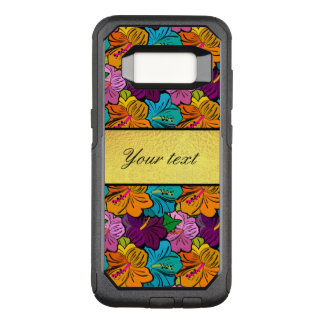 Colorful Hibiscus Flowers Pattern OtterBox Commuter Samsung Galaxy S8 Case