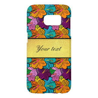 Colorful Hibiscus Flowers Pattern Samsung Galaxy S7 Case