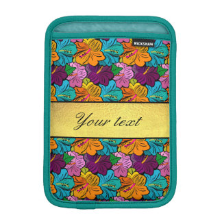 Colorful Hibiscus Flowers Pattern Sleeve For iPad Mini