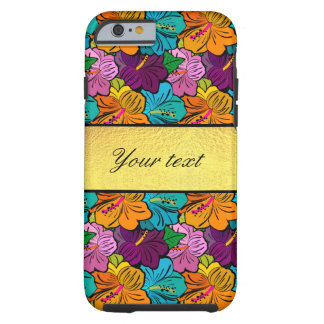 Colorful Hibiscus Flowers Pattern Tough iPhone 6 Case