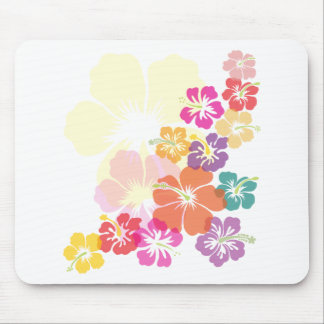Colorful Hibiscus Mouse Pad