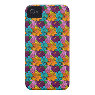 Colorful Hibiscus Pattern iPhone 4 Case-Mate Cases