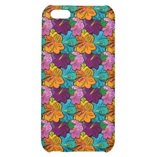 Colorful Hibiscus Pattern iPhone 5C Cases