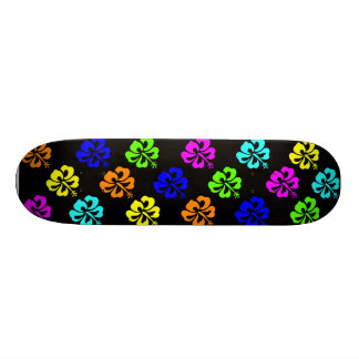 Colorful Hibiscus Skate Board Deck